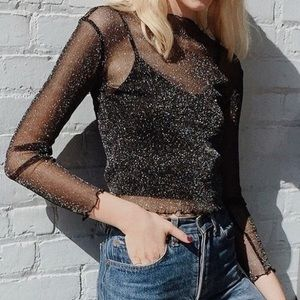 Brandy Melville Rene Glitter Top One Size
